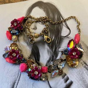 🔥NEW JCrew Multicolor GoldTone Necklace